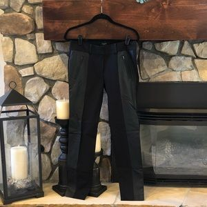 Ann Taylor Black Pant w/ Leather Trim